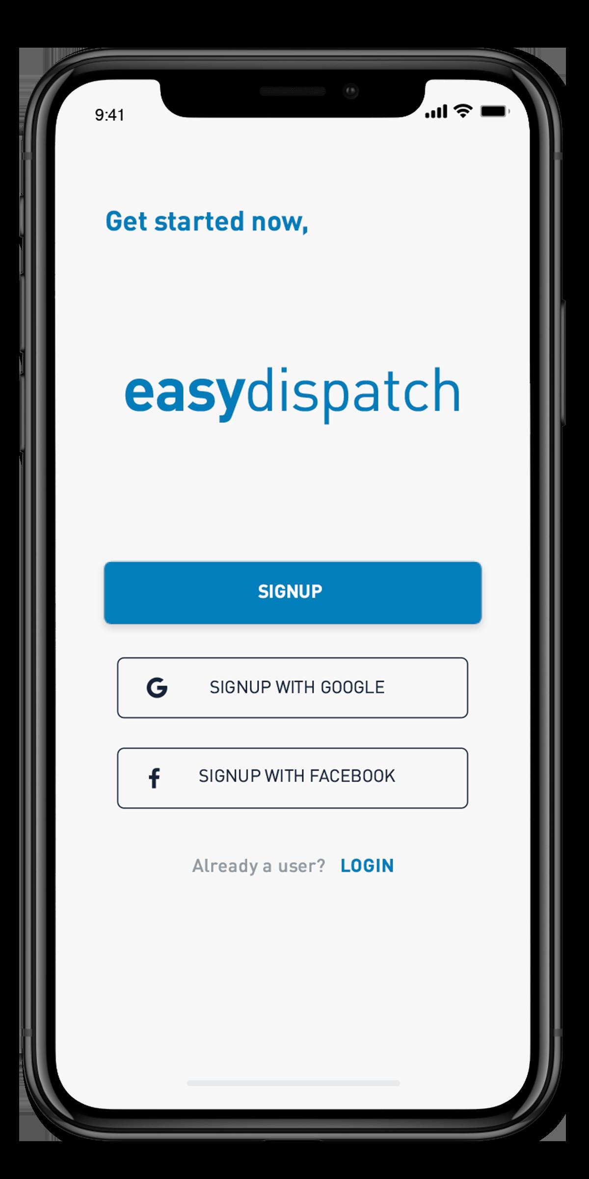 EasyDispatch - Welcome